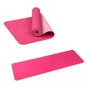 Singapore custom logo print yoga mat TPE