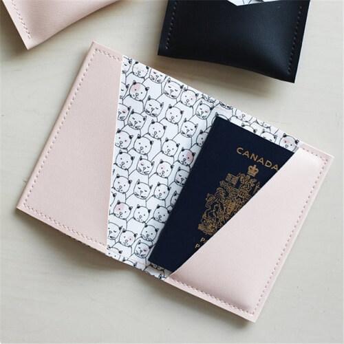 pu leather travel passport holder singapore wholesale