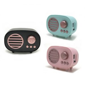 Singapore Custom logo printed Vintage Mini Bluetooth Speaker