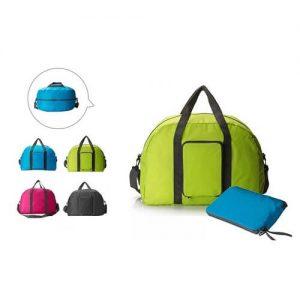 Elfie Custom Logo Print Folding Luggage Bag