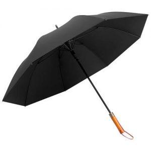 Manny Custom Logo Wooden Long-Handle Automatic Umbrella