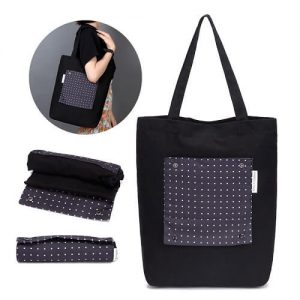 Foldable Canvas Tote Bag