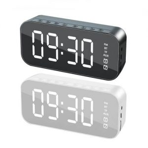 LED alarm clock with wireless bluetooth speaker