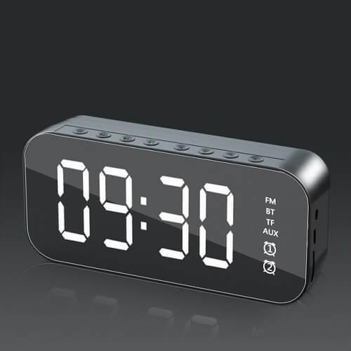 LED Alarm Clock With Wireless Bluetooth Speaker
