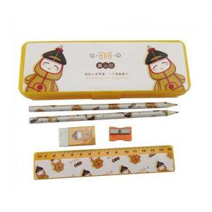 Customized Creative Cartoon Design Stationery Set With Pencil Case Main Feature