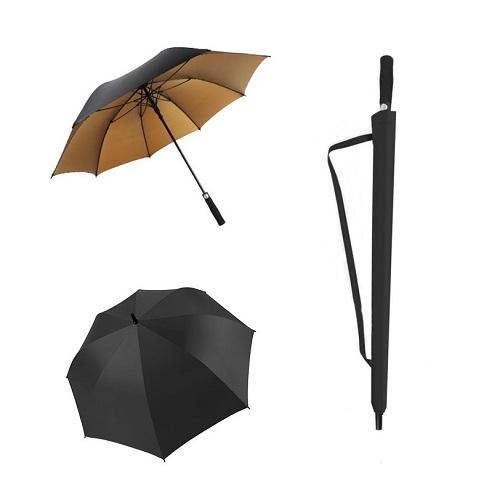 Golden UV Custom Straight umbrella Singapore wholesale