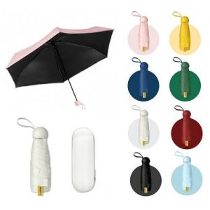 mini capsule foldable umbrella with custom logo print singapore