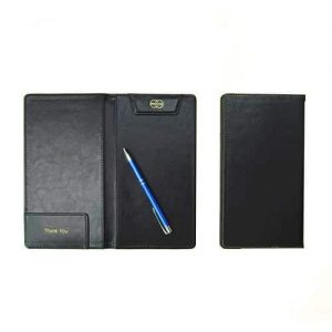 Niara Custom Logo Print PU Leather Bill Folder