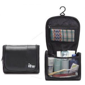 Custom PU leather Toiletries Bag