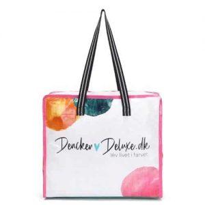 custom plastic woven tote bag