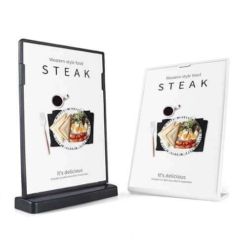 table menu stand singapore