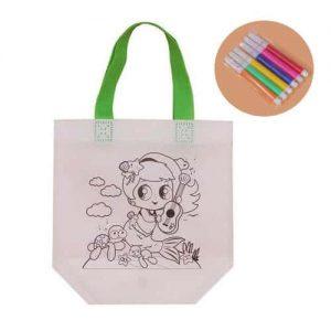 Activity tote bag drawing