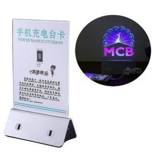 Custom Acrylic POS Charging Station