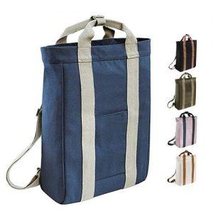 Fabius Logo Print Canvas Backpack