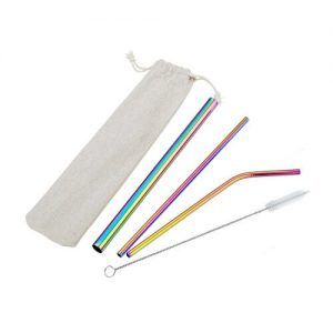 Dillion Stainless Steel Straw Set With Pouch